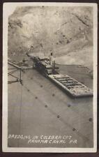 1920s Rp Postcard Us Navy Battleship Uss North Dakota Bb29 Dredging Culebra Cut
