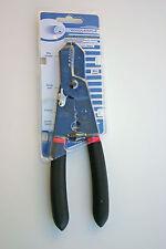 "Hand Crimping Tool w/ Wire Stripper, Cutter, Crimper, Screw Sizer, Plier 9"" NEW"