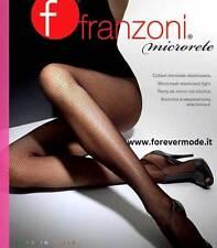 4 Collant donna Franzoni in microrete con tassello in cotone art Microrete New