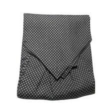 ASCOT UOMO nero SETA FOULARD disegno piccolo QUADRETTINO bianco micro classico
