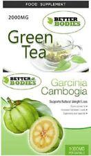 Green Tea 2000mg Garcinia Cambogia 1000mg FUERTES Dieta Pérdida De Peso Píldoras Para Adelgazar