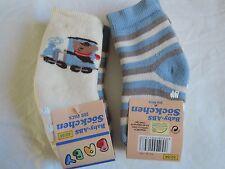 Socken Baby 2 Stück im Set mit ABS Eisenbahnund Streifen
