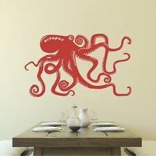 Octopus Tentacle Wall Decal Motivation Sea Ocean Animal Bathroom Vinyl Art Decor