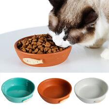 New Dog Cat Pet Feeder Feeding Bowl Water Dish Feeder Round Ceramics 3-Color