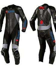 Suzuki Motorcycle elegante flamante traje de cuero Hombres de carreras ES