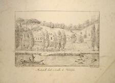 1821 Philadelphia United States Pennsylvania Mendenhall Montule Litho Brocas