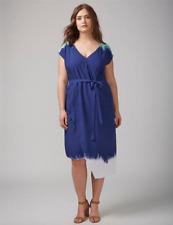 4d9aeaad2139 Lane Bryant Womens Dip-Dye Wrap Dress Plus sizes 20 24 New Navy 2x 3x
