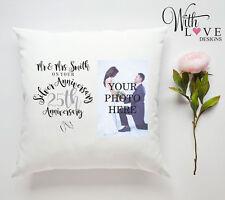 25th Argento Anniversario Di Matrimonio Cuscino personalizzato foto idea regalo personalizza