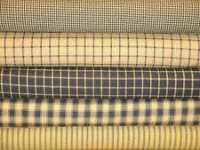 Mustard And Black Cotton Homespun Fabric | Primitive Sewing Home Decor Fabric