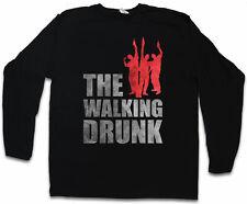 THE WALKING DRUNK LANGARM T-SHIRT Dead Fun Drinker Absturz Hangover Barfly Party