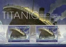 Sello bloque 3 d titanic Bélgica ungestempelt