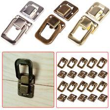 10pcs Retro Jewelry Box Wooden Case Suitcase Hasp Latch Lock Buckle Decor Clasp