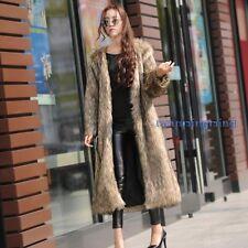 Fashion Women Winter Warm Fur Coat Long Parka Outwear Long Sleeve Jacket Trench