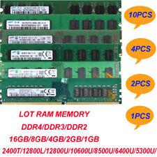 LOT Samsung 16GB 8GB 4GB 2GB 1GB 2RX8 DDR4 /DDR3 /DDR2 Desktop Memory RAM Kits $