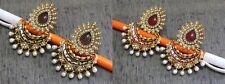 Floral Designer Various Colour Enamel Polki Pearl Handmade Filigree Long Earring