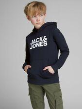 JACK & JONES Junior Kapuzenpullover Hoodie JJEcorp dunkelblau Größe 128 bis 176