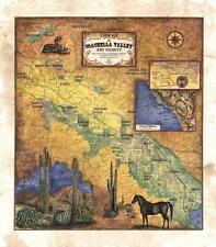 029 Coachella Custom Map vintage historic antique map poster print