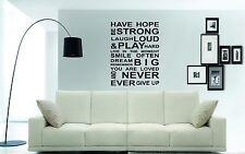 Avere speranza Wall Art Sticker, Decalcomania, preventivo, Murales, un Ottimo Preventivo per qualsiasi parete