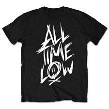 All Time Low Official Scratch Logo Mens Black Short Sleeve T-Shirt  Pop Punk