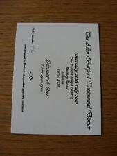 Billete De 26/07/2001: testimonios de Allan Batsford cena en el centro de David Lloyd []