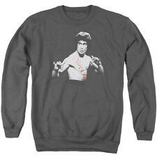 Bruce Lee Final Confrontation Mens Crewneck Sweatshirt Charcoal