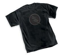 DC FLASH TV SHOW ZOOM Logo Symbol BLACK Adult Licensed T-Shirt - S-3XL