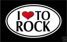 "5.75"" I LOVE TO ROCK vinyl decal sticker.. rock n roll"