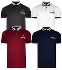 Kangol Men's Cotton Polo Shirt Jersey Top T-shirt Plain Mahogany Grey White Navy