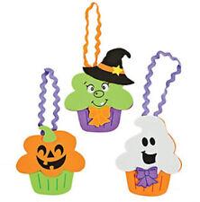 Halloween Cupcake Character Craft Kit for Boys Girls Kids Ghost Pumpkin Witch