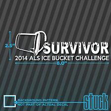 Survivor 2014 ALS Ice Bucket Challenge - vinyl decal sticker bumper car window
