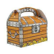 Pirate Treasure Chest Cardboard Treasure Boxes Party Favor Candy Treat Box LOT