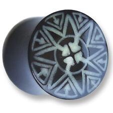 12/14/16/18/20/22mm CORNO Bone ossa chirurgico Flesh Tunnel Ear Plug Orecchio Piercing 216