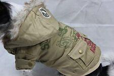 Mantel Hundejacke Hundemantel Jacke XS S M L XL Hund Winter beige warm NEU