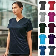 Badger Tonal Blend Women's V-Neck T Shirt 4175