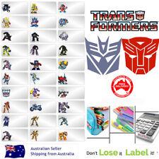 Transformers kids Personalised Name Label preschool back2school pencil sticker