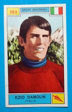 Figurina CAMPIONI DELLO SPORT 1969/70-n.393-DAMOLIN (ITA)-SPORT INVERNALI-rec