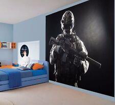 Militare Combat Soldato Battaglia pronto Carta Da Parati Murale Parete (35097648)