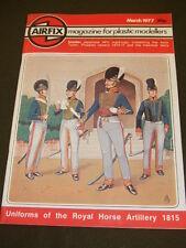 AIRFIX MAGAZINE - UNIFORMS ROYAL HORSE ARTILLERY 1815 - MARCH 1977