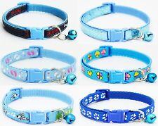 Blue Dog Collar Puppy Small XS Tiny Strong Clip Male Female Boy Nylon Cute UK