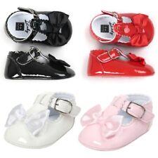 Newborn Baby Girl BowCrib Shoes Soft Sole Sneakers  Anti-slip PU Prewalker 0-18M