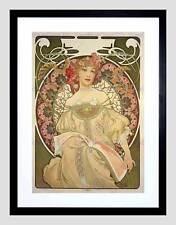 Alphonse mucha champagne publisher 1897 noir encadré art imprimé B12X239