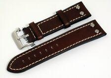 Condor Premium Uhrband Uhrenband für Fliegeruhren 20-26mm Kalbleder braun 683