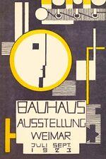 1923 allemand Weimar Bauhaus Art Exhibition procurer a3 poster re imprimer