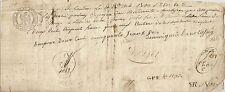 PAPIER ANCIEN PARCHEMIN PROMESSE DE PAIEMENT CESSION DE CREANCES 1815