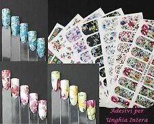 Nail Art WATER Transfer Stickers per Unghia INTERA-Bellissimi Fiori-Manicure !!!