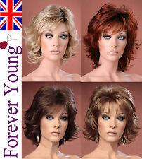 Ladies Short Wig Blonde Black Brown Wig Bob Wispy Forever Young Fashion Wigs