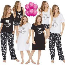 Ladies Team Bride To Be Hen Night Party Wedding Long Short Pyjamas Set Nightie
