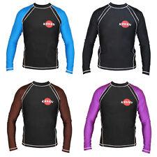 KANKU Long Sleeve Rash guard Black, Blue, Purple, Brown, BJJ, MMA, Judo, fitness