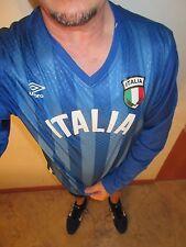 $28.00 NEW Umbro Long Sleeve Italia Athletic Shirt L XL Blue