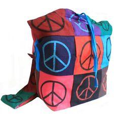 Peace Sling Bag, Multi Pocket Bag, Shoulder Bag, Boho Chic, Hippy, Festival Bag